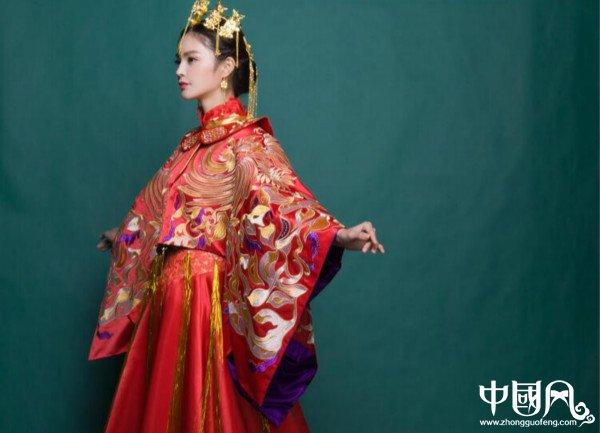 中式复古龙凤褂喜服中式礼服图