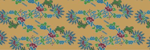 中国传统织锦叶子图案与配色,矢