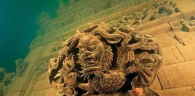 千岛湖底水下古城,一笔一画勾
