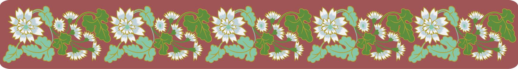 中国传统刺绣小雏菊图案,矢量素
