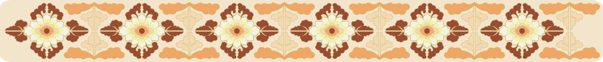 中国传统刺绣宝相花纹图案,矢量