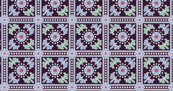 中国传统唐代服饰宝相花纹几何图