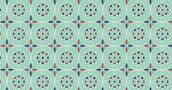 中国传统唐代服饰几何团窠纹图案