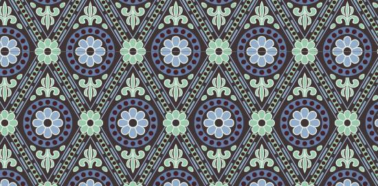 中国传统唐代服饰几何花纹图案二