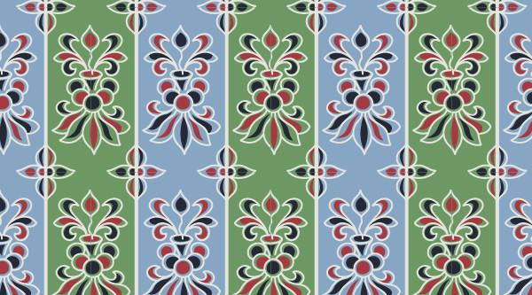 中国传统唐代服饰条纹穿枝花纹图