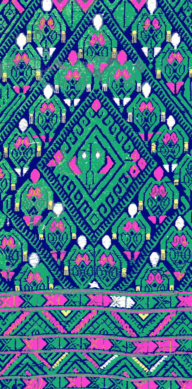 中国传统织物图案回形纹一,矢量