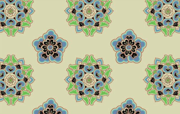 中国传统唐代服饰花纹图案三,矢
