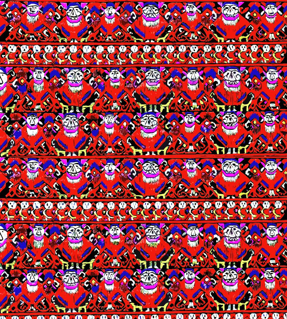 中国传统织物图案传统人物,矢量