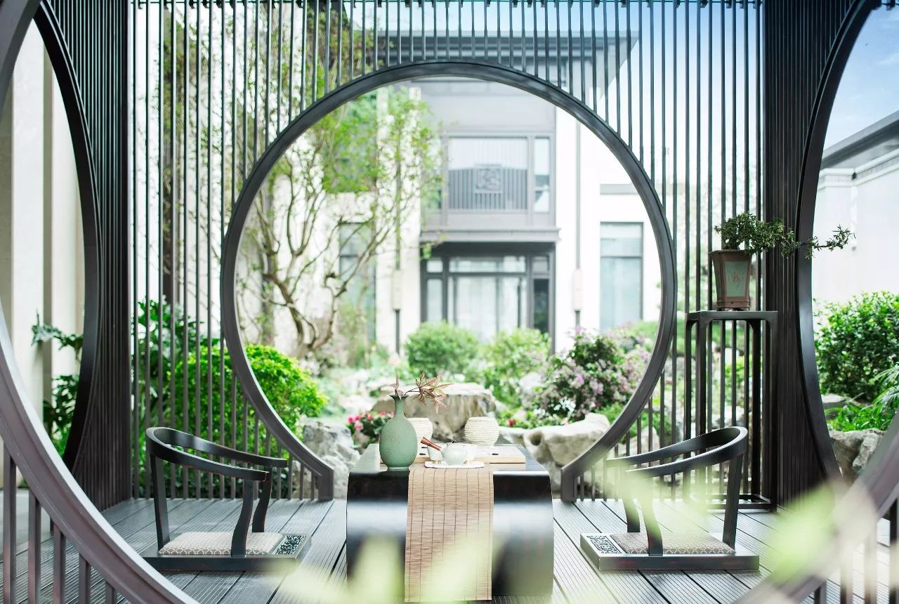 古典中式园林庭院设计:构设诗