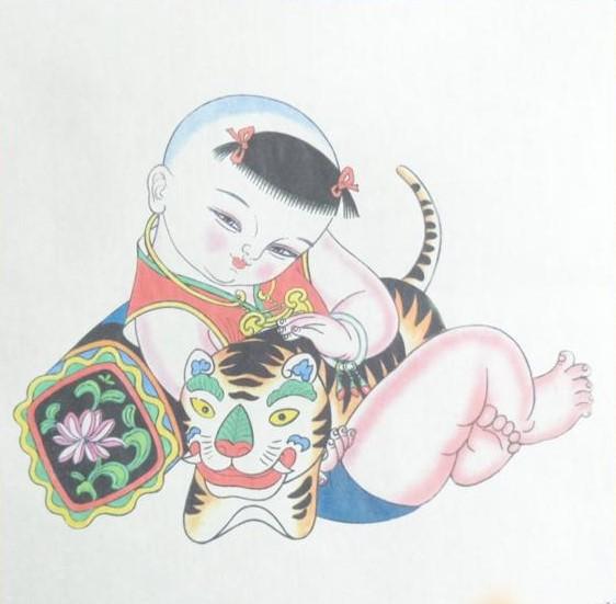 十款民间工艺年画,古风手绘童
