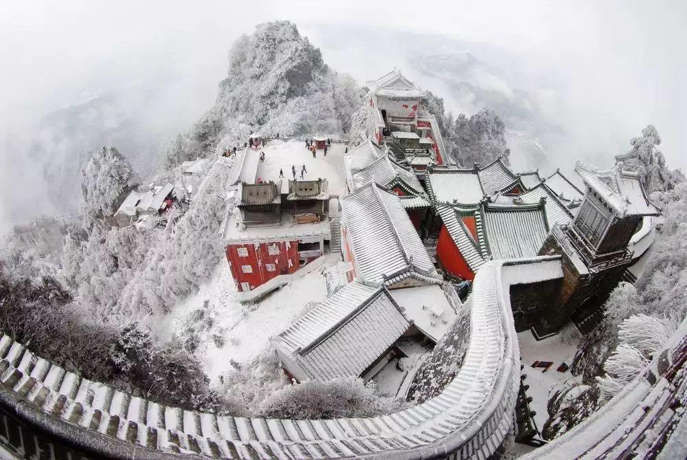 武当山雪景摄影:雪后武當是仙