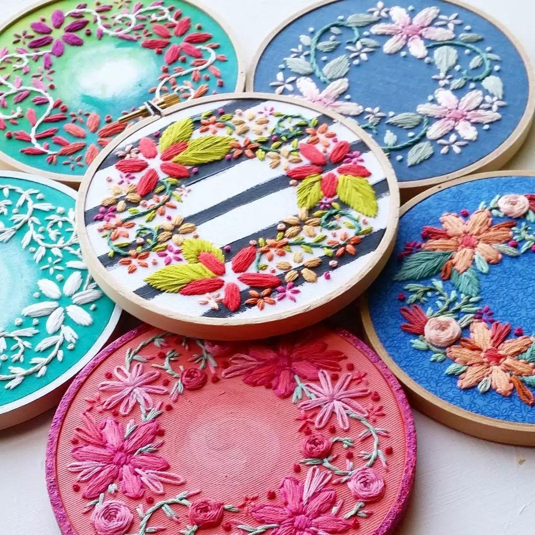 唯美手工刺绣艺术:用针线填满