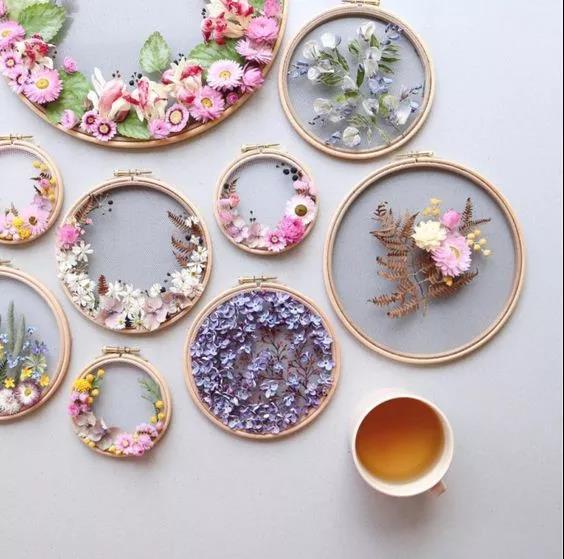 手工刺绣艺术:Olga Prinku 鲜花刺