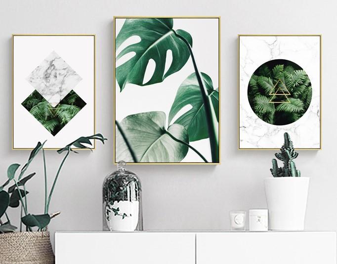 清新植物装饰画,简约大气客厅