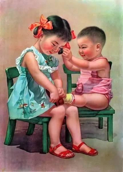 60年代古老的中国年画,值得珍