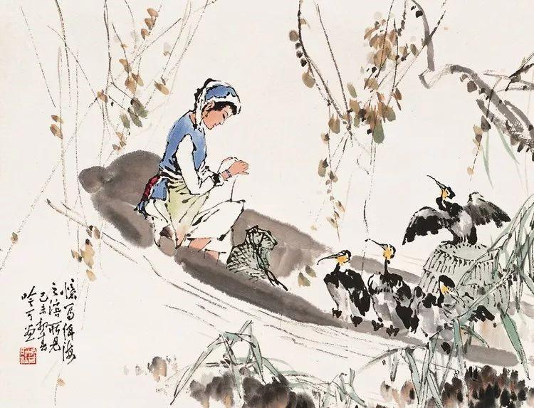 诗意中国画:宋吟可人物国画欣