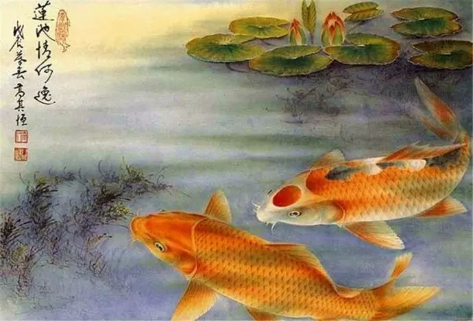 超逼真的诗意国画鱼:令人惊叹
