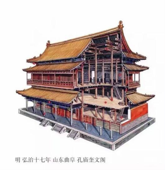 精辟的中国古建筑内部结构图,