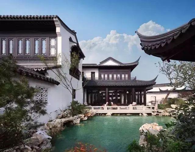 浅谈新中式别墅,中式合院别墅