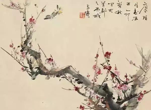 王雪涛国画作品:28幅精品画梅