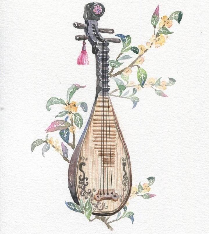 9款唯美古风图片:一组古风乐器