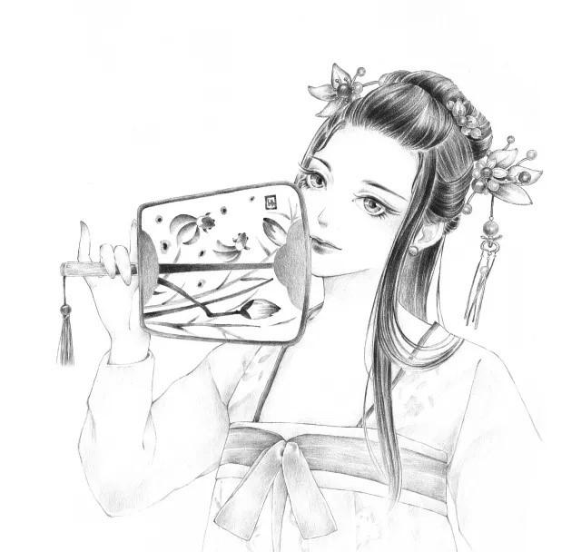 9款黑白古风美女图片:千姿百态