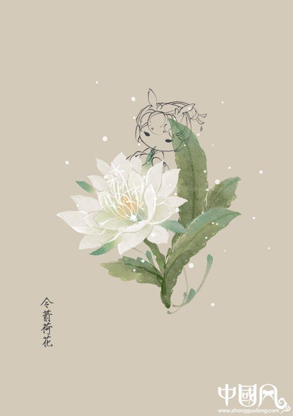 一组花与仙子古风图片,清新淡