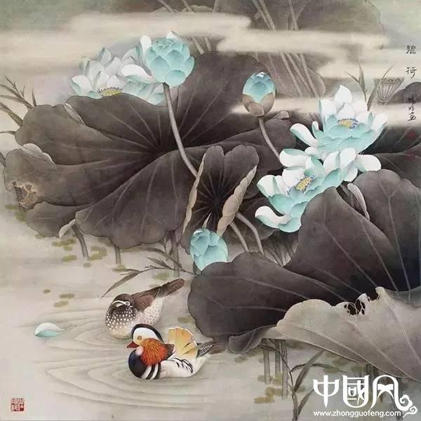 鸳鸯戏水图集(18张),好漂亮的国