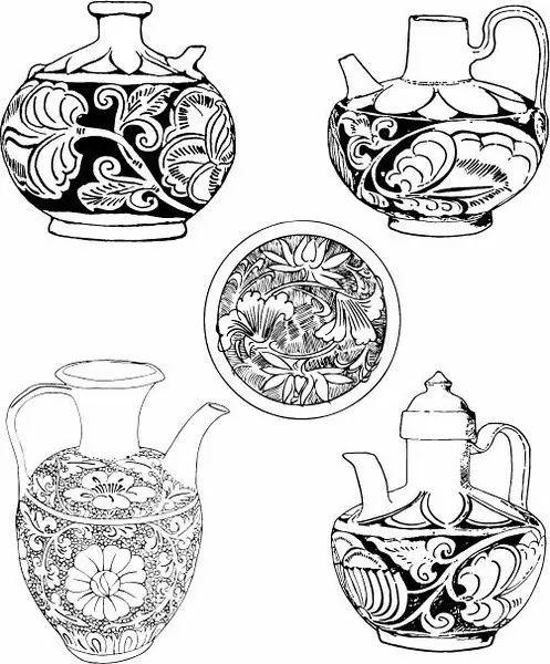 青花瓷素材图案欣赏,中国传统