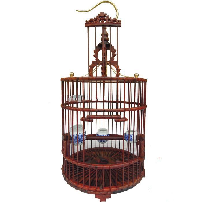 红木红酸枝平顶画眉鸟笼子