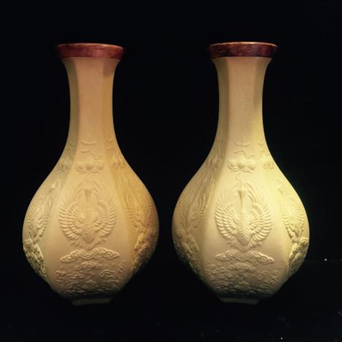 精品文玩仿清宫匏器葫芦花瓶