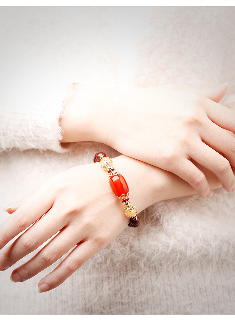 水晶红玛瑙手链