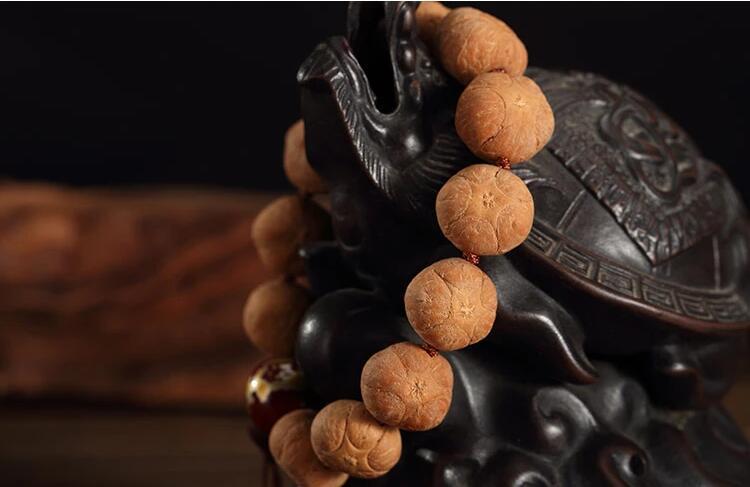 尼泊尔五角五福麒麟眼菩提子佛珠手串
