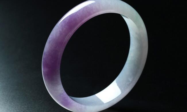 冰种紫罗兰翡翠手镯(二)