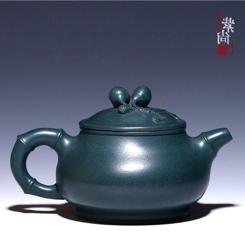 中式古风墨绿泥紫砂壶茶壶