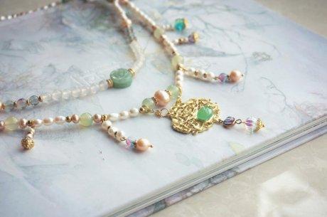 珍珠璎珞锁项圈