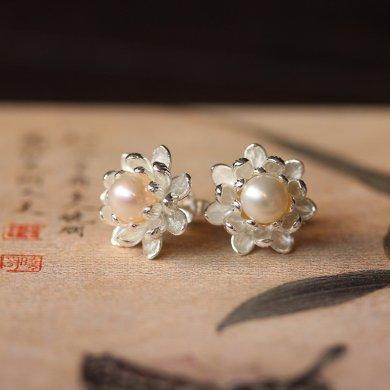 中国风珍珠耳钉