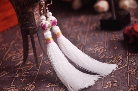 中国复古风流苏珍珠耳环