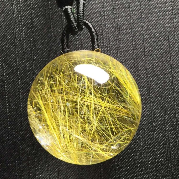 发晶吊坠水晶球