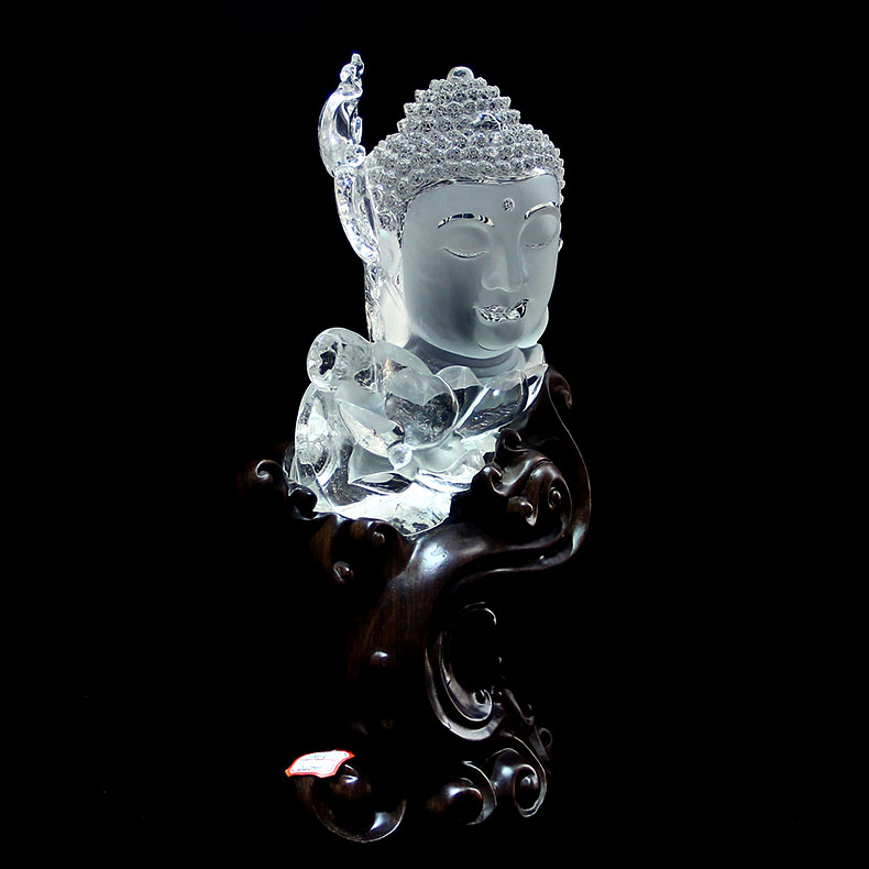 天然白水晶佛摆件,水晶的作用和功效