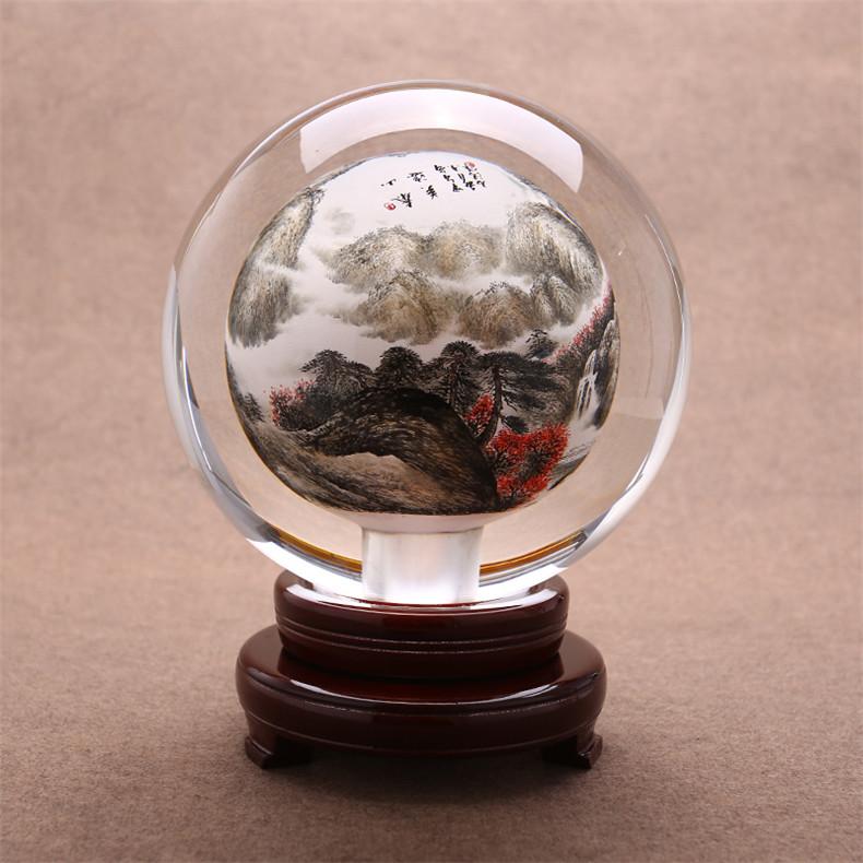 创意中秋山水风景水晶球,水晶是怎样形成的?