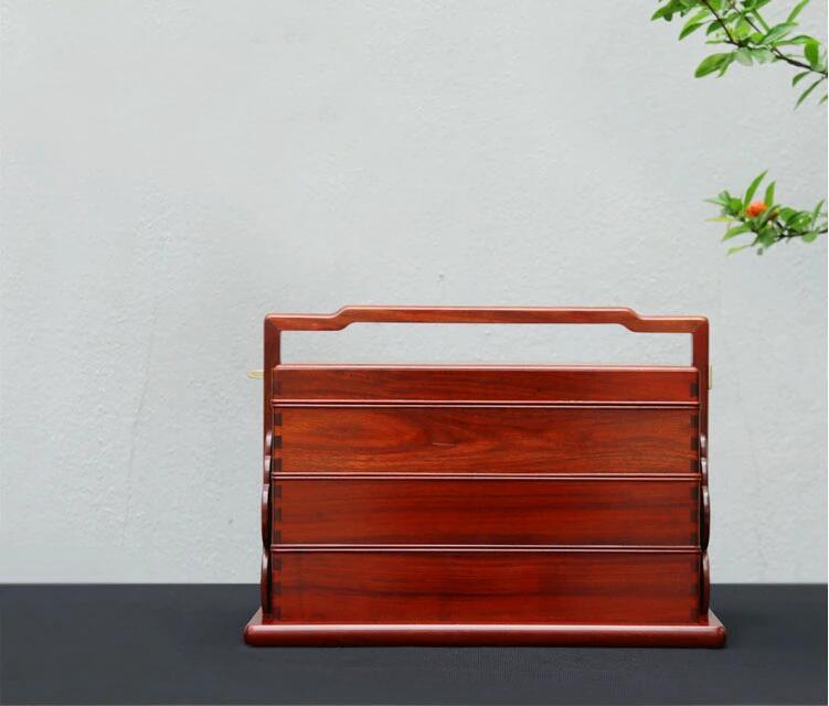 赞比亚血檀明式简约提盒