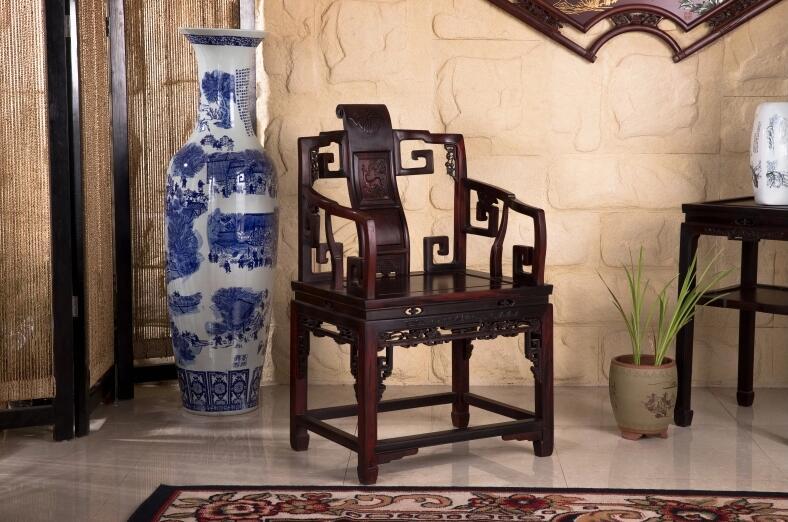 中式古典酸枝木太师椅