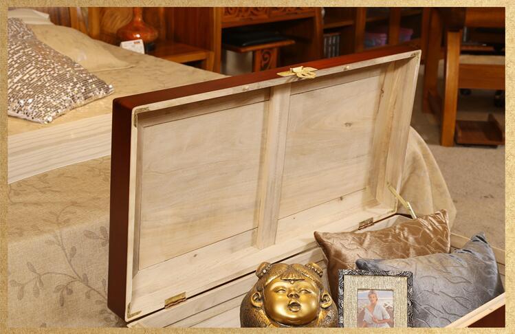 新中式实木香樟木箱
