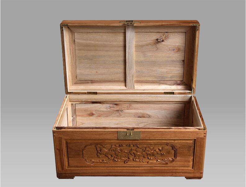 中式复古香樟木箱子