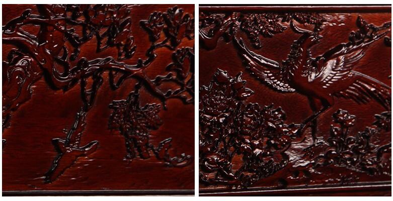 红木色香樟木结婚箱子