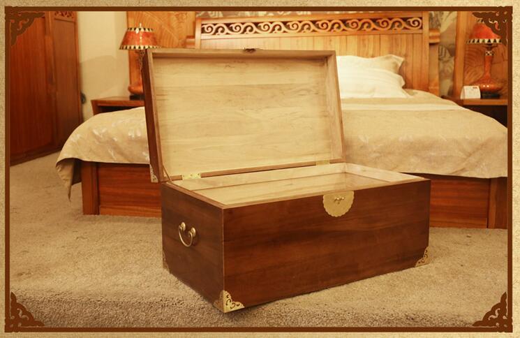 新中式明清全实木香樟木箱