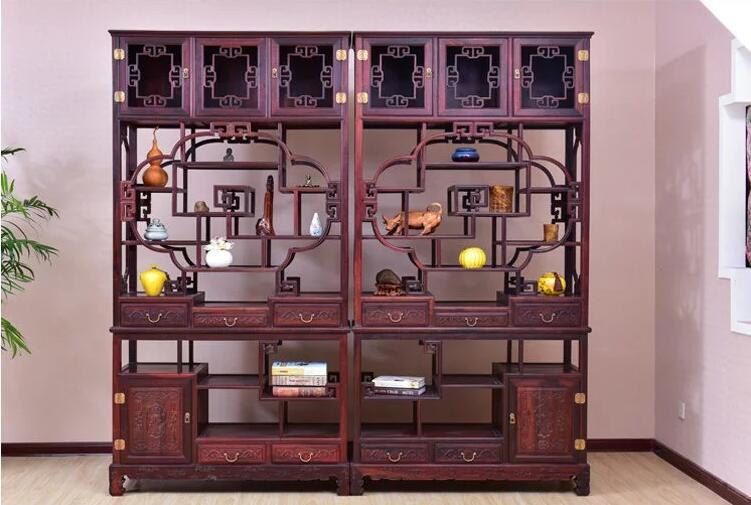 红木家具新中式老挝大红酸枝博