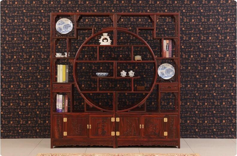 中式仿古实木博古架红木家具