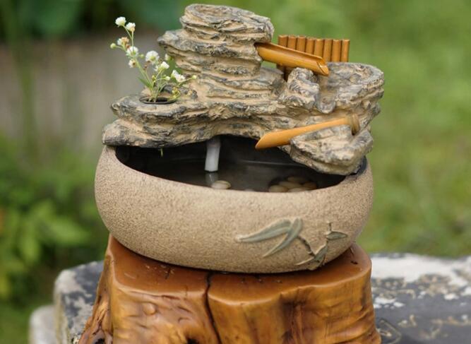 假山工艺喷泉鱼池